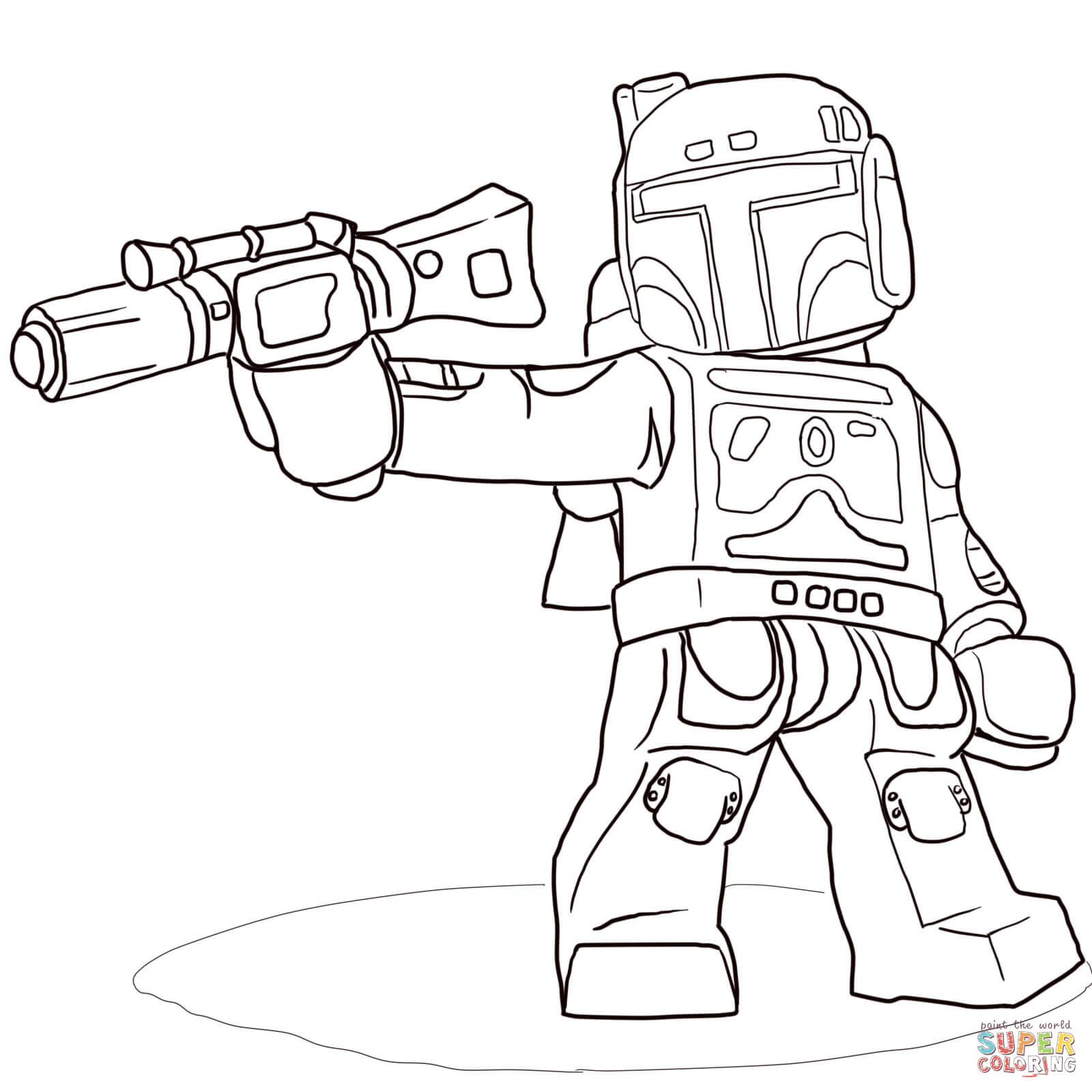 coloriage à dessiner lego city star wars