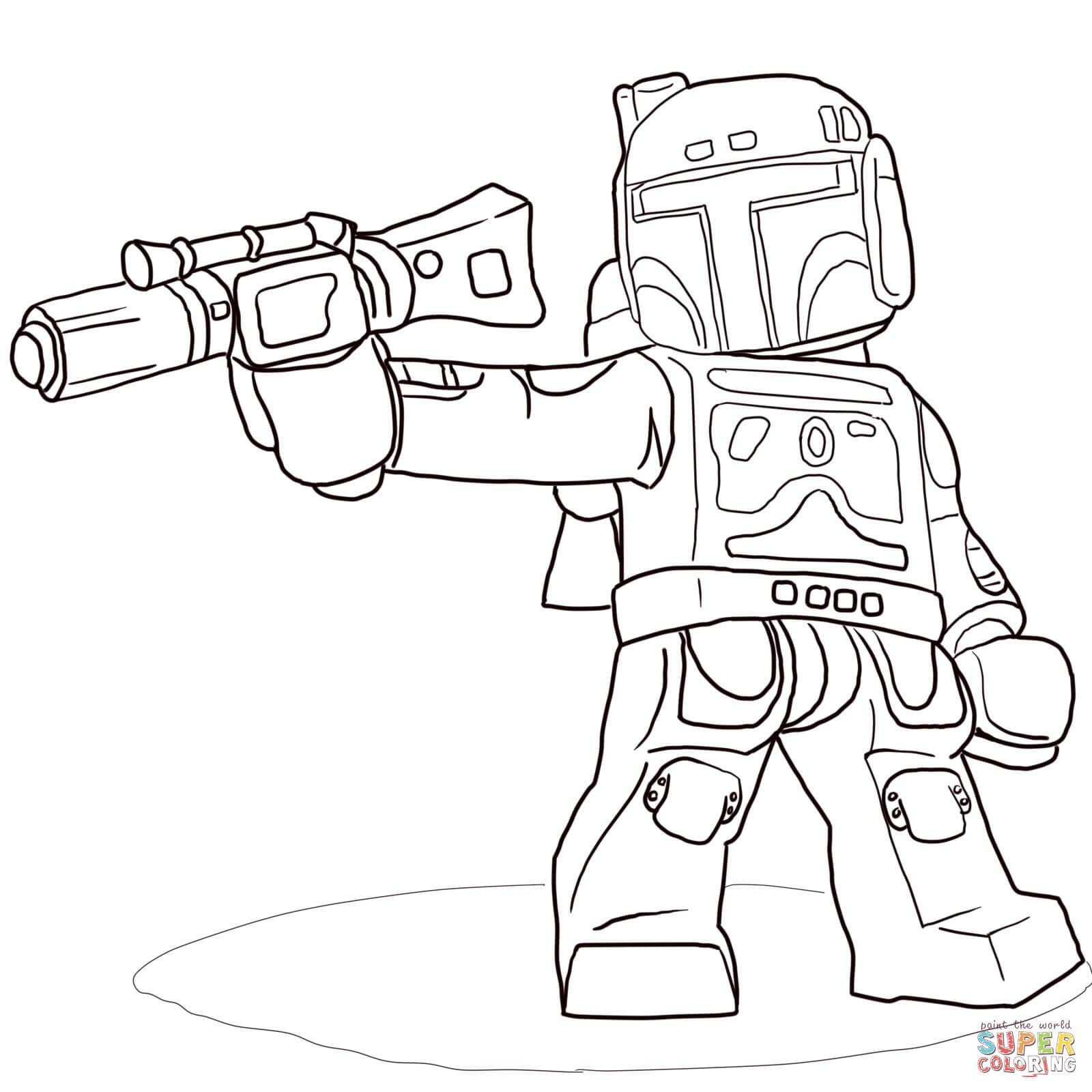 coloriage à dessiner lego city star wars