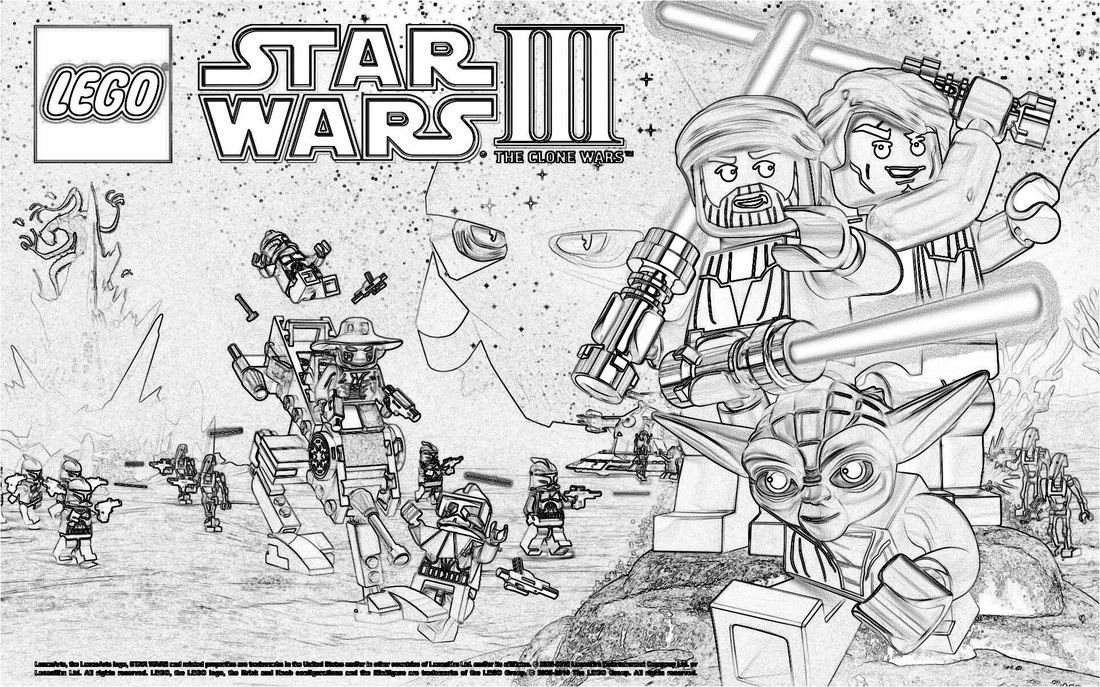 22 dessins de coloriage Lego Star