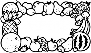coloriage legume fruit imprimer on super