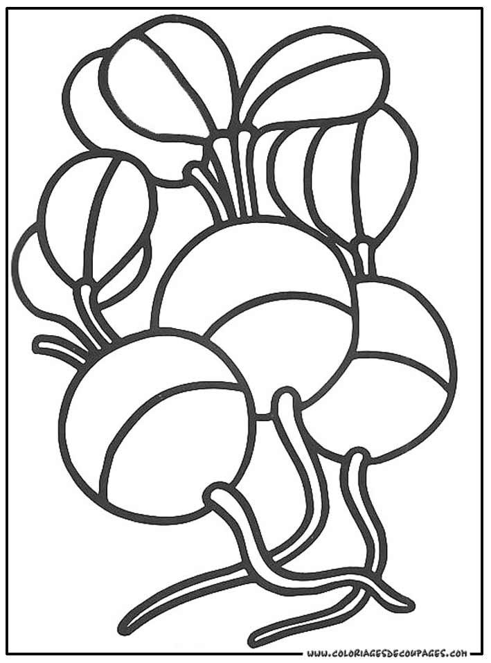 coloriage panier de legume