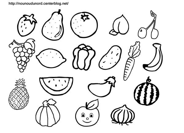 coloriage légumes du potager