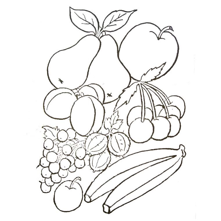 coloriage à dessiner a imprimer fruits legumes