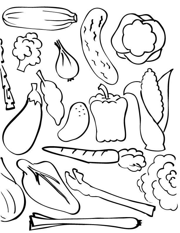 99 dessins de coloriage l gumes d 39 automne imprimer - Dessin de legumes ...