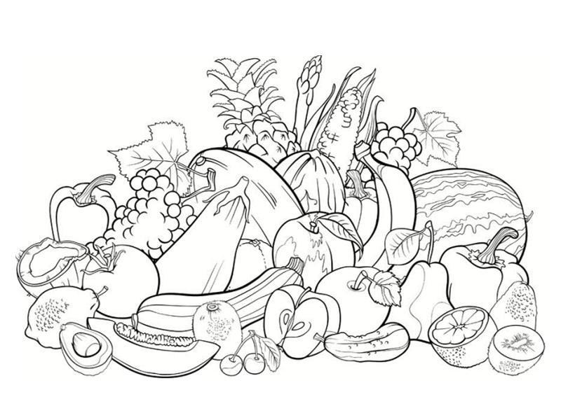 99 dessins de coloriage l gumes imprimer - Dessin de legumes ...