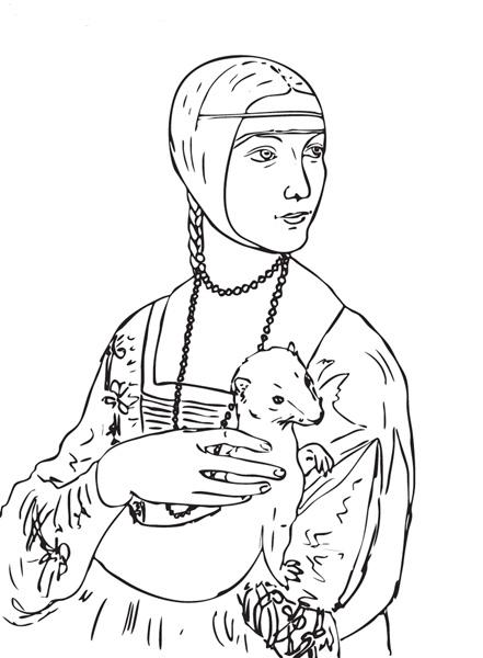 coloriage à dessiner de leonard a imprimer