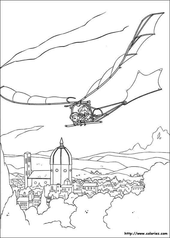 dessin � colorier leonardo