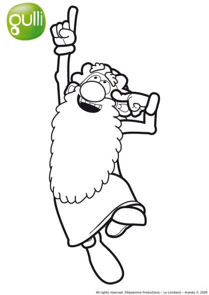 coloriage à dessiner leonard