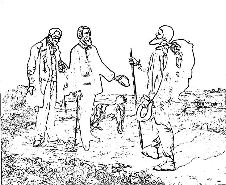 dessin à colorier de leonard a imprimer
