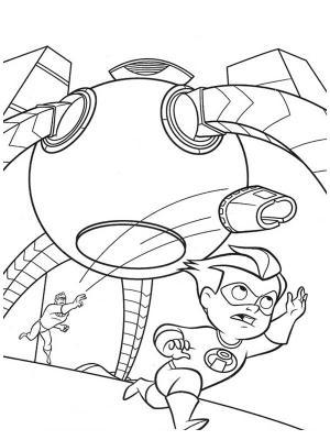 dessin à colorier gratuit à imprimer les indestructibles