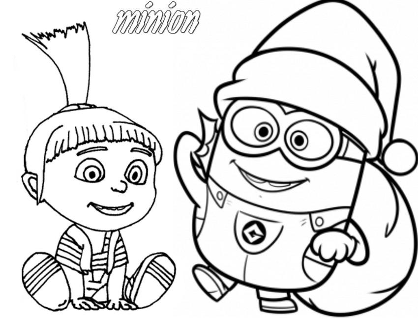 Coloriage Minion à imprimer gratuitement