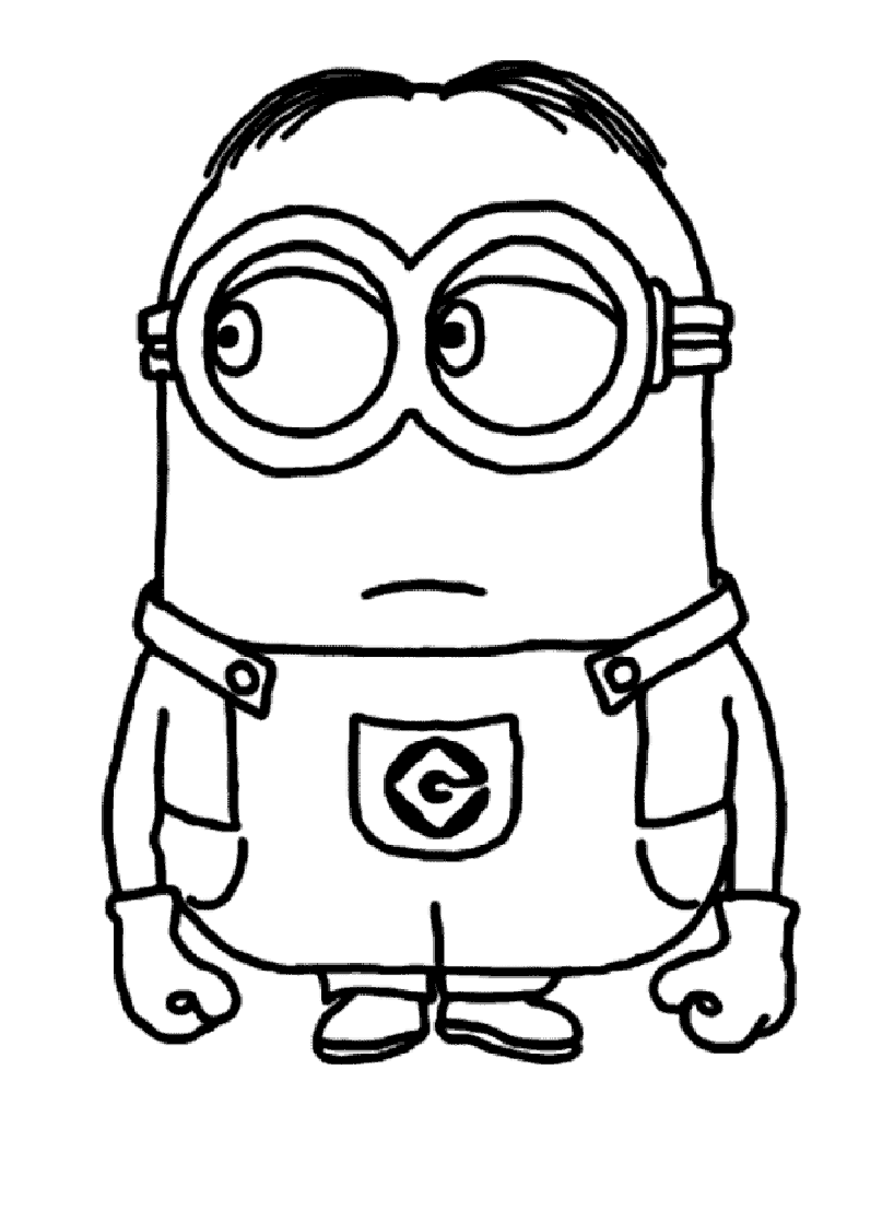 Top 224 dessins de coloriage les Minions à imprimer VS54