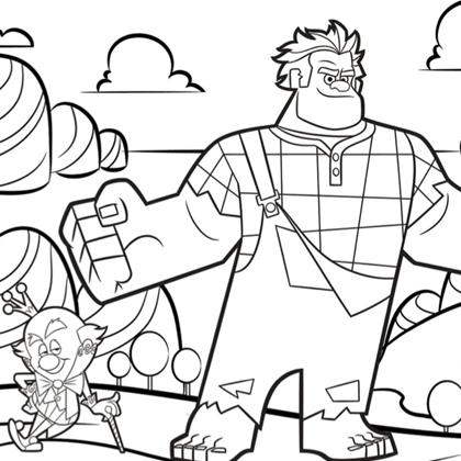 20 dessins de coloriage les mondes de ralph en ligne imprimer - Dessin anime les mondes de ralph ...