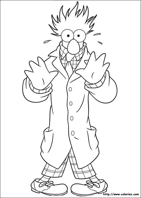 coloriage à dessiner les muppets