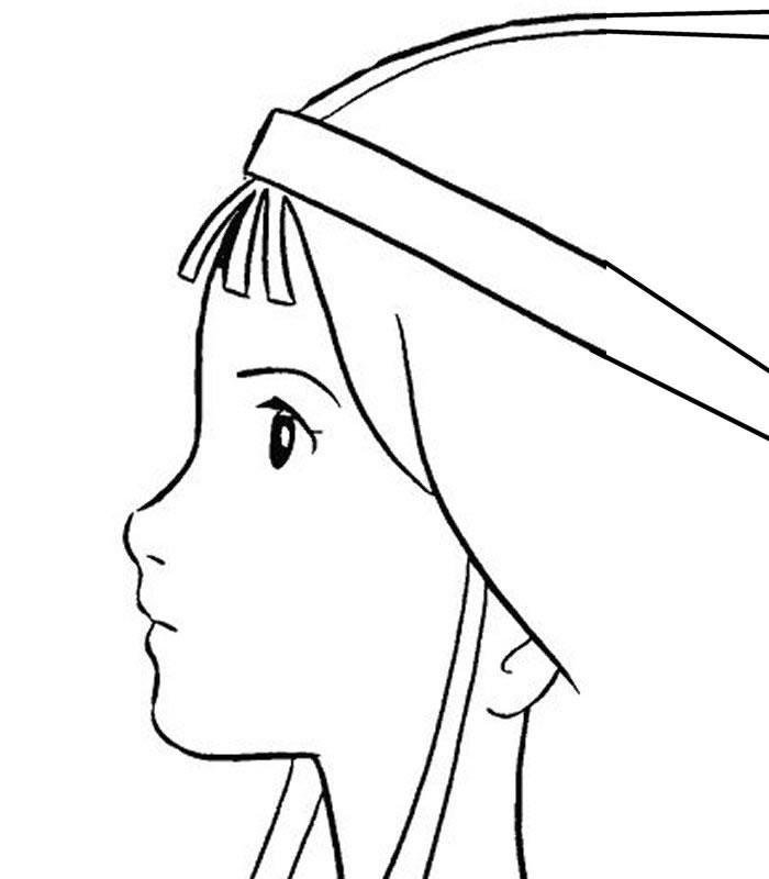 52 dessins de coloriage les myst rieuses cit s d 39 or imprimer - Dessin profil visage ...