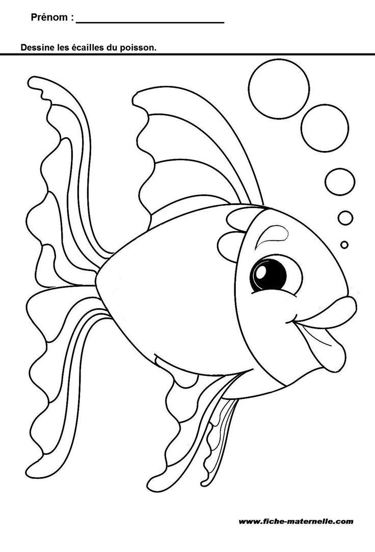 19 dessins de coloriage les poissons rouges matisse imprimer - Poisson en maternelle ...