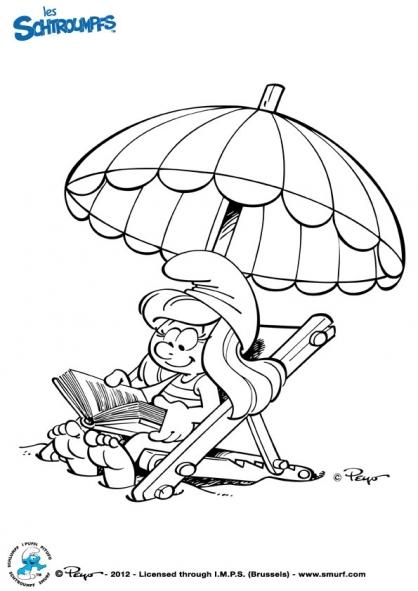 dessin à colorier les schtroumpfs le film