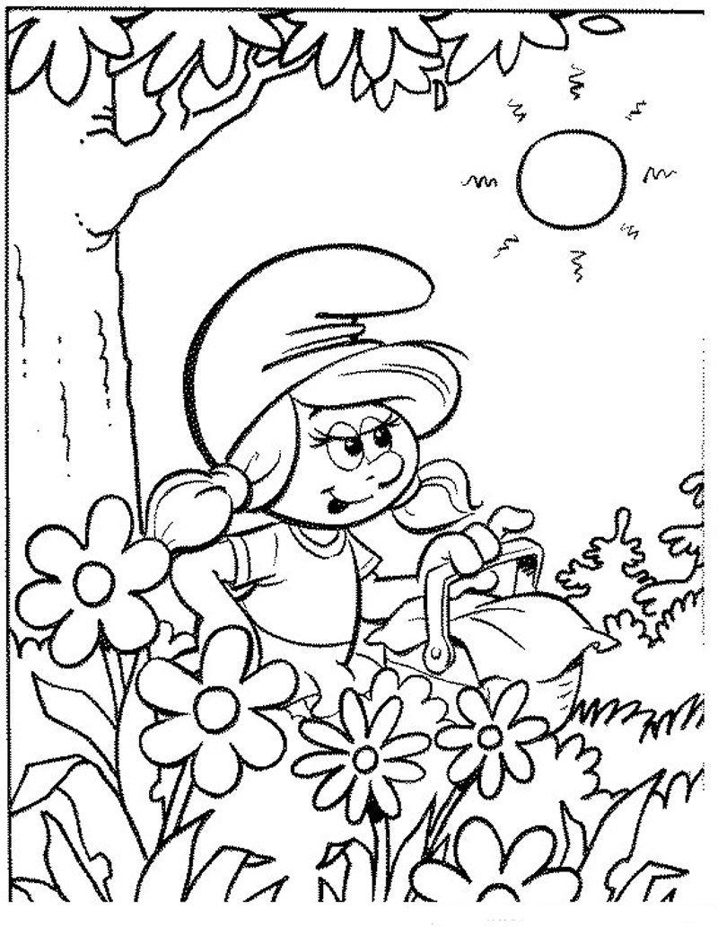 dessin à imprimer les schtroumpfs 2