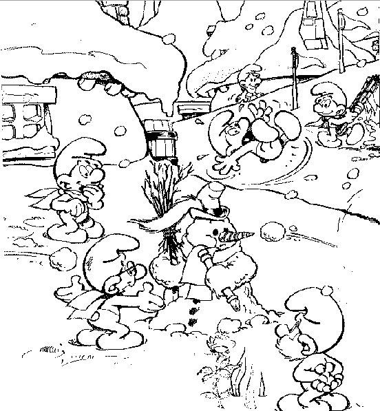 jeux de coloriage � dessiner les schtroumpfs