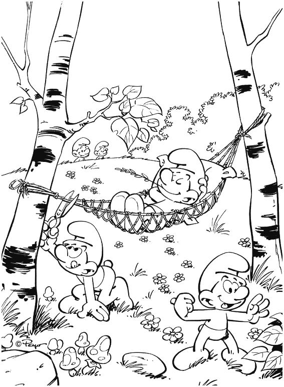jeux de dessin les schtroumpfs