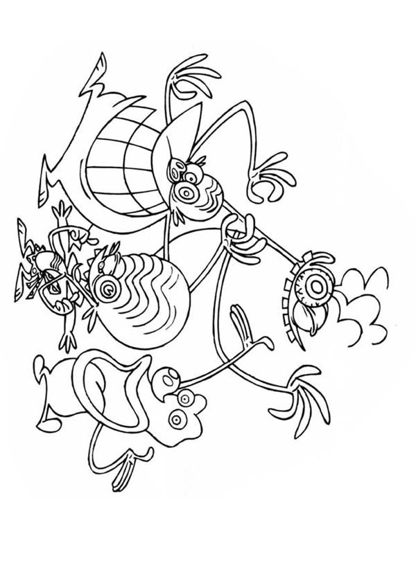 dessin les zinzins de l'espace a imprimer