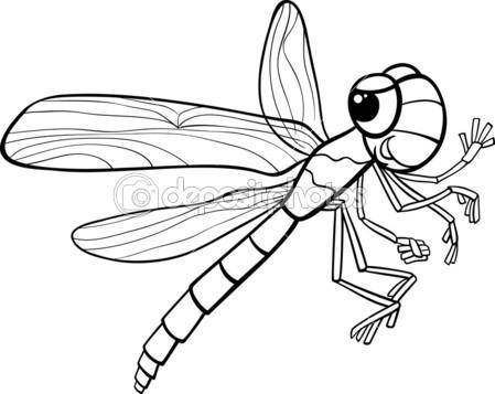 coloriage à imprimer libellule