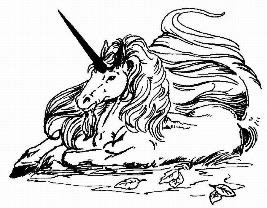 dessin à colorier licorne à imprimer