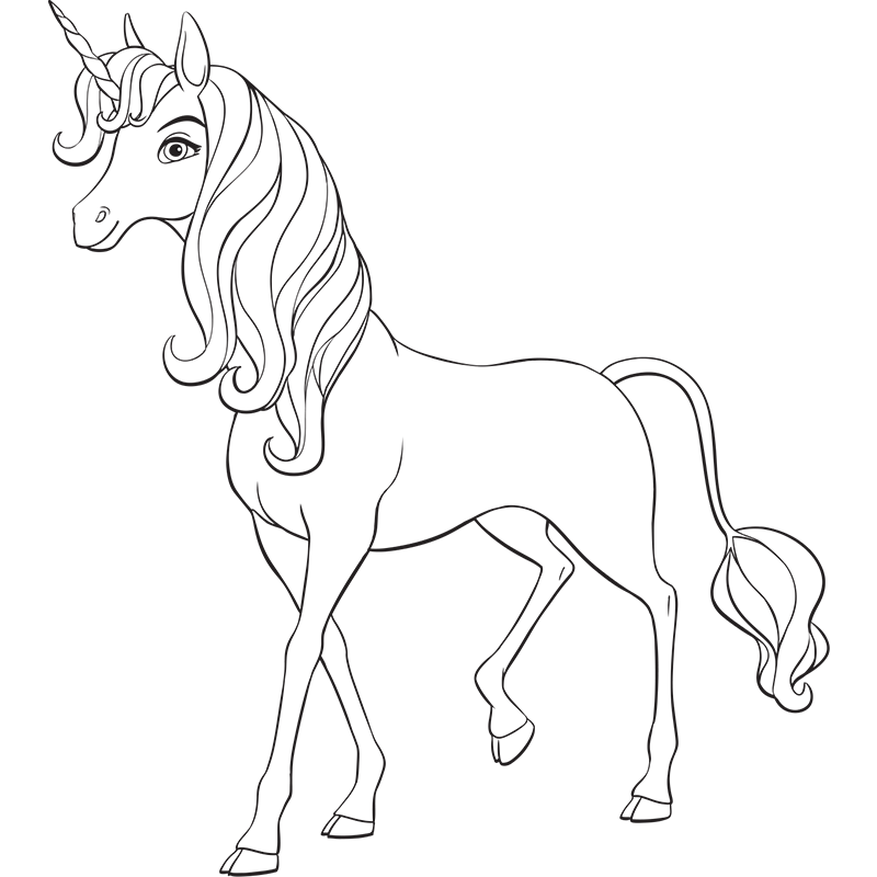 dessin � colorier secret de la licorne