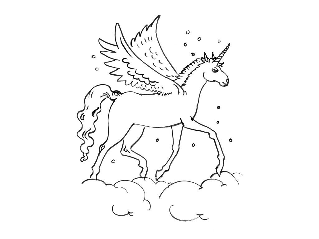 dessin mandala licorne a imprimer