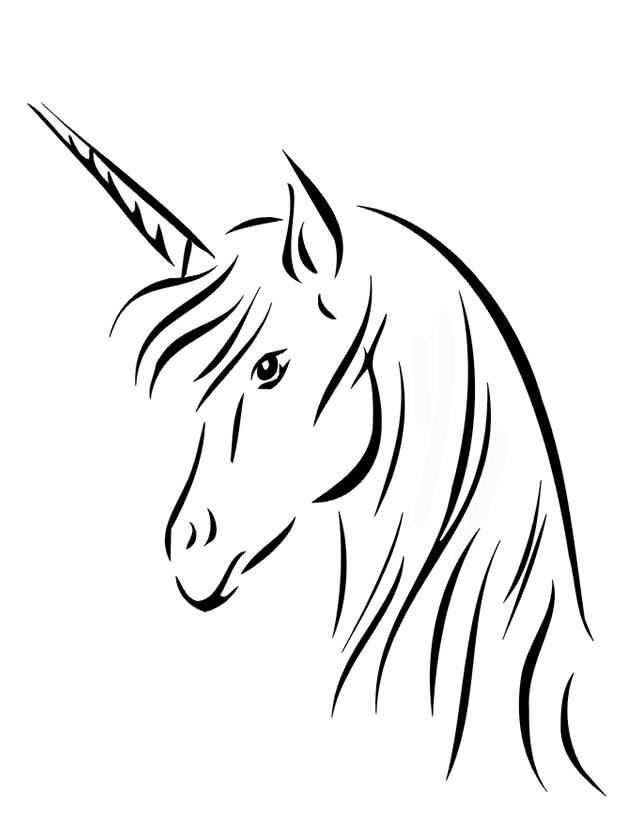 dessin de licorne gratuit
