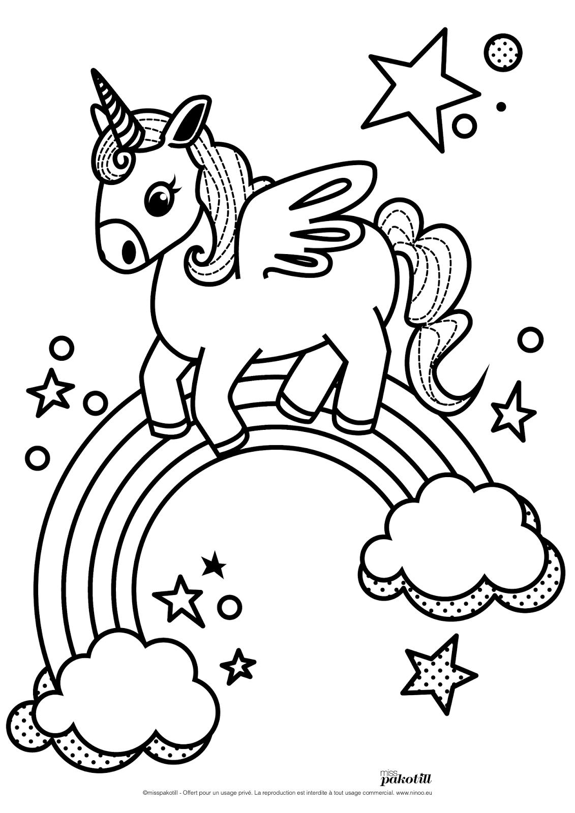 dessin licorne en ligne