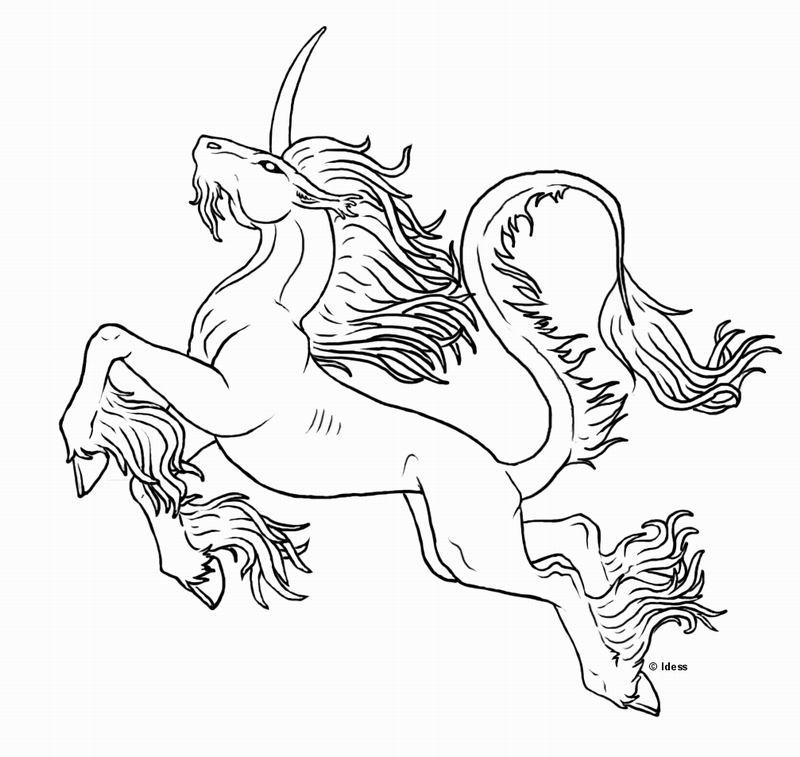 dessin à colorier licorne avec ailes imprimer