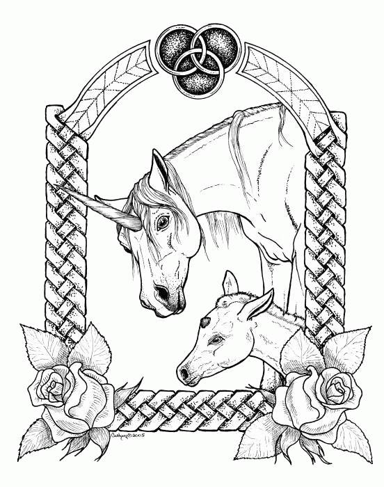 dessin de licorne volante