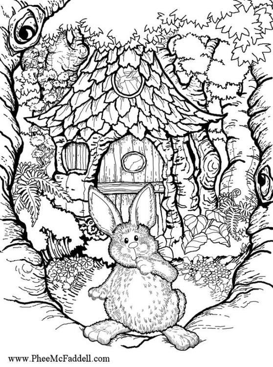 dessin à colorier lièvre a imprimer
