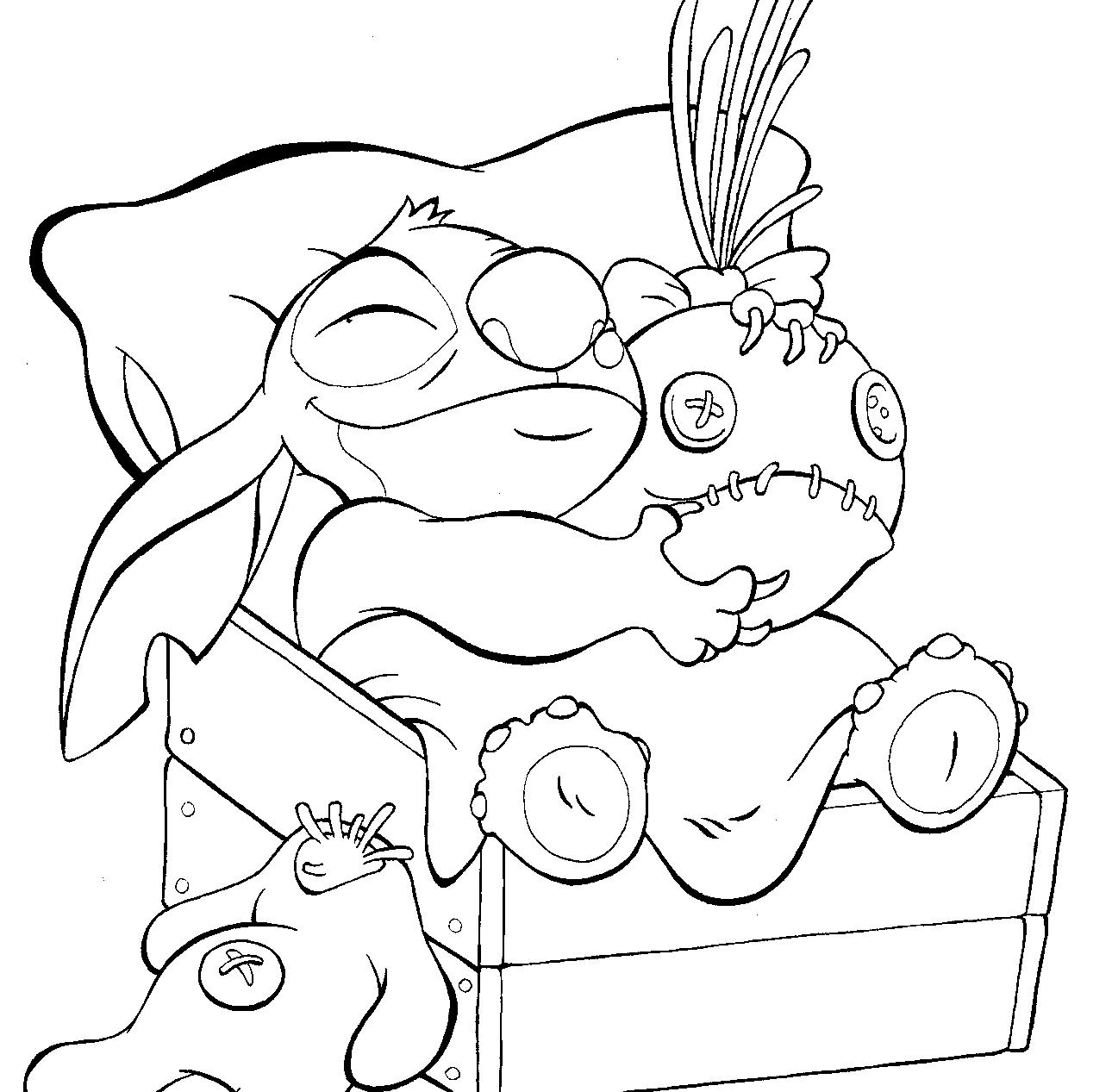 Stitch Disney Noel Coloriage