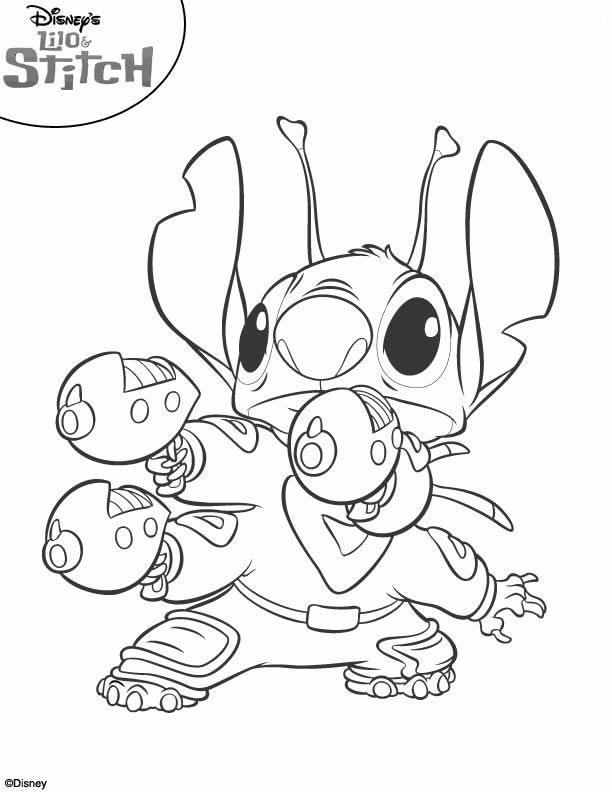coloriage à dessiner de lilo et stitch 2