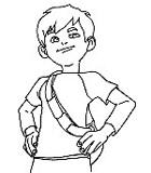 coloriage à dessiner de linus et boom gratuit