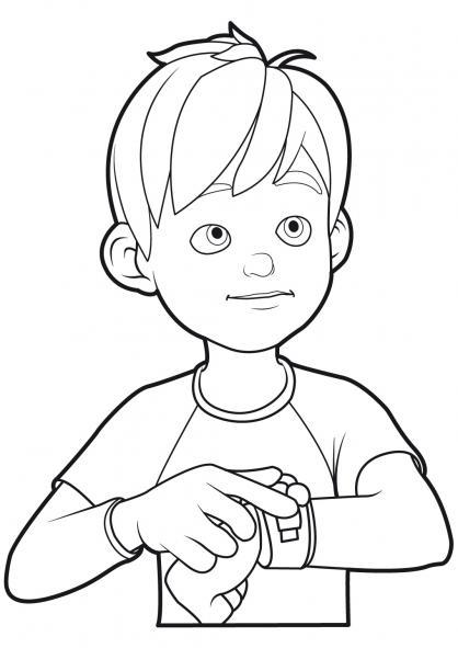 coloriage à dessiner linus et boom gratuit