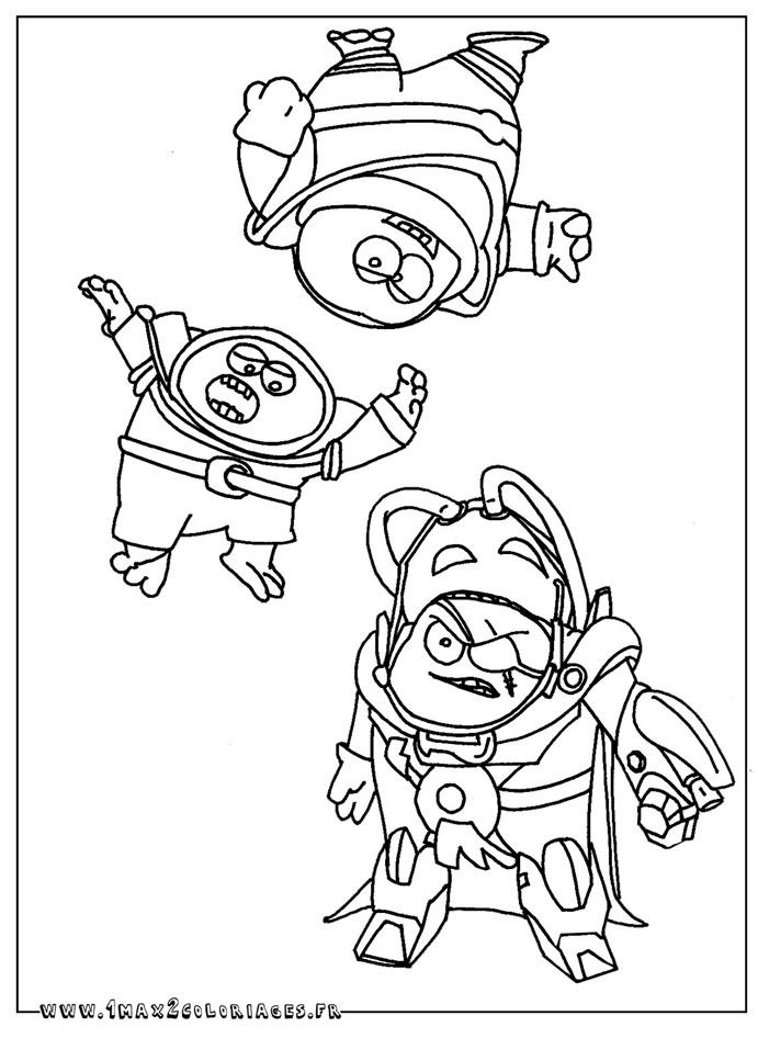 dessin à colorier gratuit linus et boom