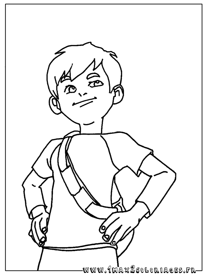 jeux de dessin à colorier linus et boom