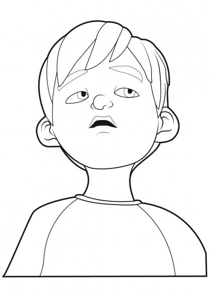 dessin à colorier linus et boom gratuit