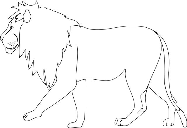 20 dessins de coloriage lion en ligne imprimer. Black Bedroom Furniture Sets. Home Design Ideas