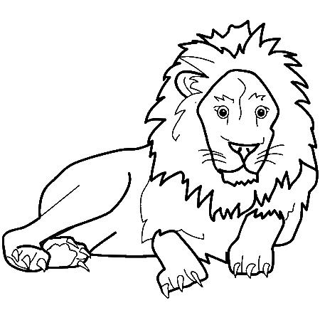 19 Dessins De Coloriage Lion Et Tigre A Imprimer