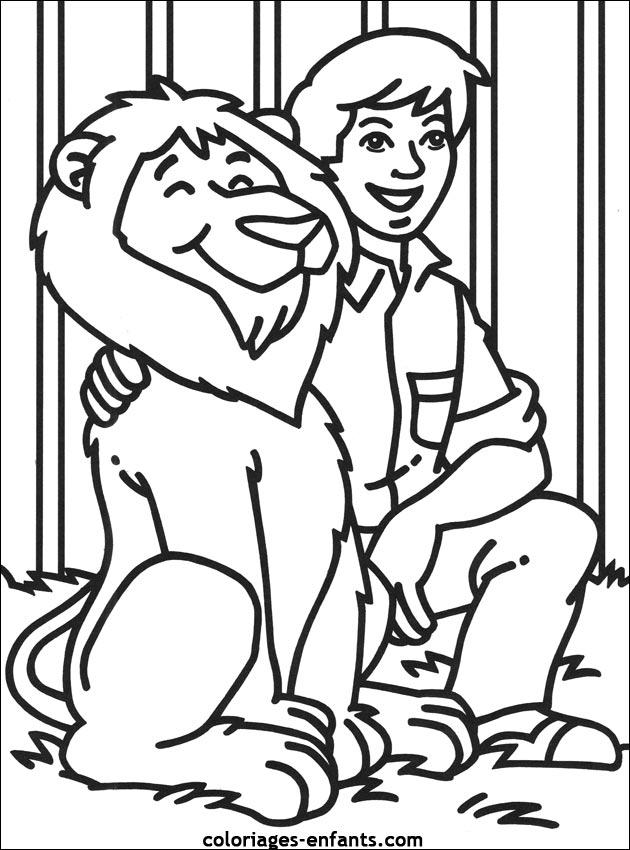 19 dessins de coloriage lion et tigre imprimer - Babouin et belette ...