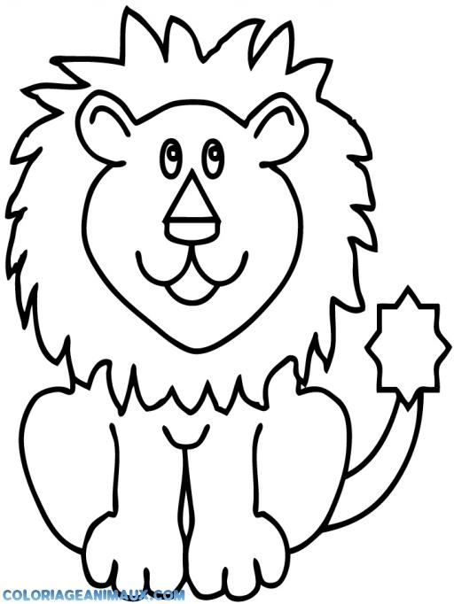 dessin à colorier lionceau