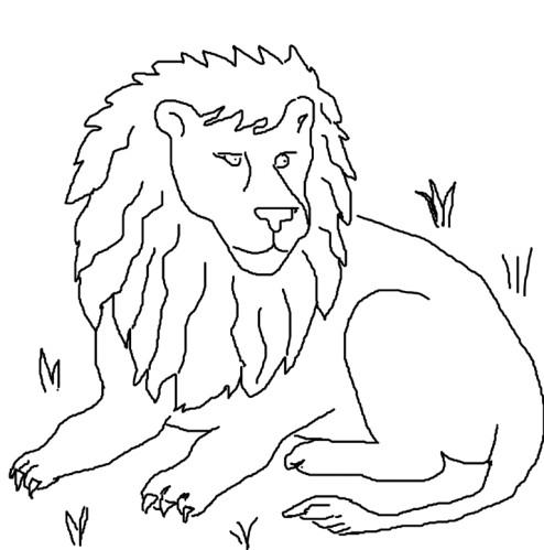 dessin à colorier roi lion mufasa