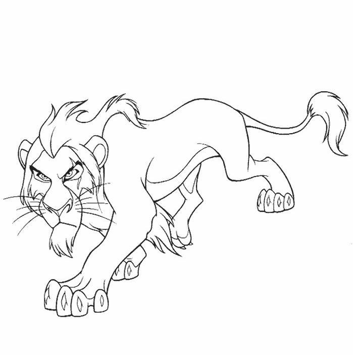 coloriage à dessiner lion à imprimer