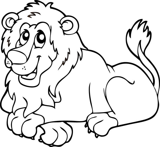 dessin � colorier cod� lion