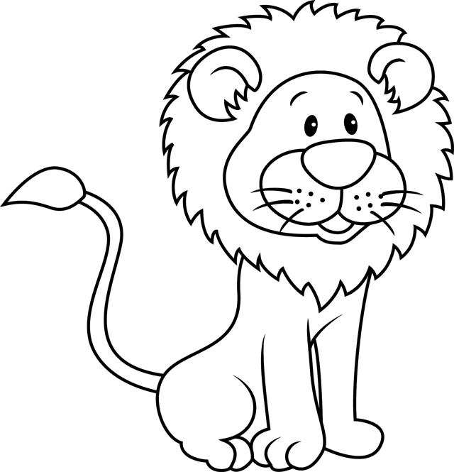 coloriage dessiner de lion en couleur. Black Bedroom Furniture Sets. Home Design Ideas