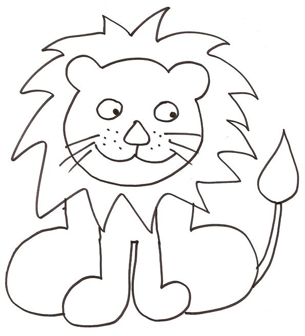 coloriage à dessiner lion héraldique